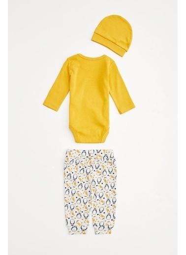 DeFacto Erkek Bebek 3'lü Takım Sarı